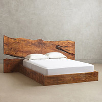 Live Edge Wood Queen Bed by Anthropologie