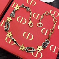 Dior New fashion letter star bracelet accessory Golden