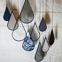 Stained Glass Elements: Raindrops (set of 10)