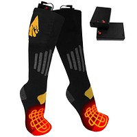 ActionHeat AA Battery Heated Socks - Cotton