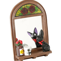 Studio Ghibli Kiki's Delivery Service Stained Glass Wall Mirror