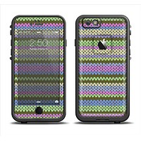 The Colorful Knit Pattern Apple iPhone 6 LifeProof Fre Case Skin Set