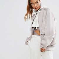 adidas Originals Oversized Bomber Jacket With Side Pockets at asos.com