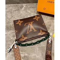 Louis Vuitton LV Newest Trending Women Leather Crossbody Satchel Shoulder Bag Coffee&Brown