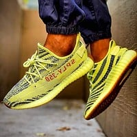 Adidas Yeezy Boost V2 Semi Frozen Yellow Sneakers Shoes