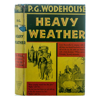 Heavy Weather, P. G. Wodehouse, First Edition, Third Printing, 1938, Hardcover  DJ