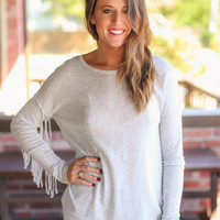 Country Chic Sweater - Grey