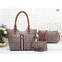 Samplefine2 COACH Fashion New Pattern Leather Shopping Leisure Shoulder Bag Handbag Three Piece Suit Bag Women 4#