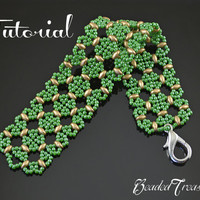 Morocco - beaded lace bracelet pattern with Superduo, seed beads / beading pattern / lace bracelet / TUTORIAL ONLY