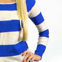 Outside In Sweater - Cobalt