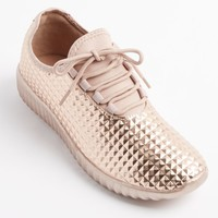 Rose Gold Geo Textured Sneaker | Athletic Shoes | rue21