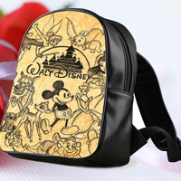 "Disney Collage Art design for Backpack / Custom Bag / School Bag / Children Bag / Custom School Bag ""NP"""