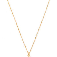 FOREVER 21 Hashtag Rhinestone Necklace Gold/Clear One