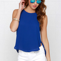 Elite Daily Blue Sleeveless Top