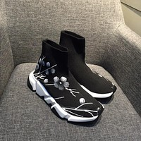 Balenciaga Speed Trainers Stretch Knit Mid Sneakers Style #6