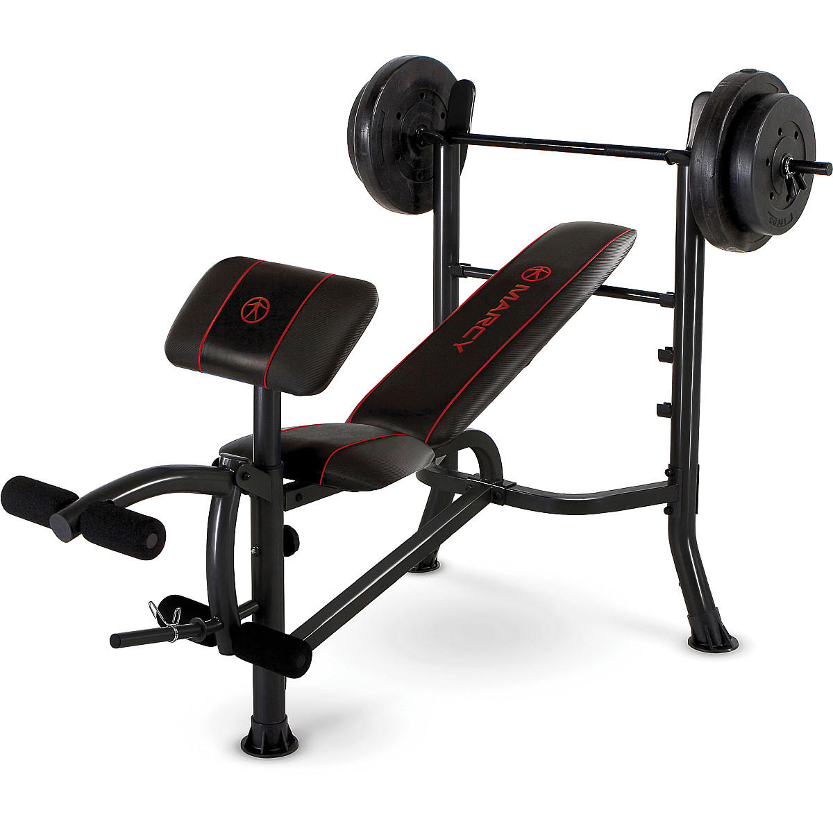 Standard Bench With 80 Lbs Weight Set From Sports