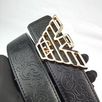 Armani hot selling embossed gold buckle belt fashion casual belt for men and women