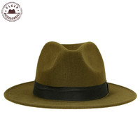 Hot sale cheap unisex wool Jazz hats mens fedora hat women felt hat cowboy panama hats for women derby fedoras [HUB048g1100]