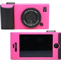 Leegoal Peach Retro Stereo Camera Shape Protector Protective Hard Case Cover for iPhone 4 4S 4G