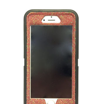 OtterBox Defender Series Case iPhone 6 (4.7 inch) Glitter Cute Sparkly Bling Defender Series Custom Case black / red