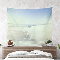 Wall Tapestry With Ocean Wave Photography Print, Summer Wall Art, Beach, Nature Photography, Wall Decor, Home Decor, Dorm Decor, Gifts, Art