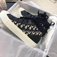 Christian Dior Walk Technical Knit Oblique Mid-top Sneaker