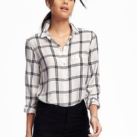 Classic Plaid Soft Shirt for Women | Old Navy