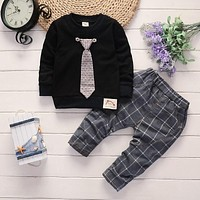 BibiCola spring autumn baby boys clothing set kids clothes tops +pants tracksuit newborn boy sports suit infant boy clothing
