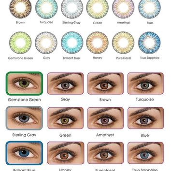 Vibrant Color Contacts Eye Lenses Color blends Cosmetic Makeup