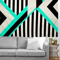 Elisabeth Fredriksson Turquoise Stripe Combination Tapestry
