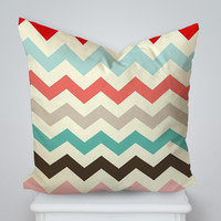 Full Color Chevron Square Pillow Cover, Pillow Case, Cushions Pillow Cover, Home Decor Pillow, Bed Pillow