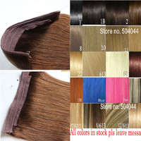 """16""""-32"""" 100% Brazilian Remy Hair Flip In/on Human Hair Extensions halo hair 100g 120g 140g 160g 1pcs Set Single Hairpieces"""