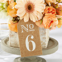 Burlap Table Number Tag (Set of 6)