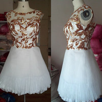 white prom dress,gold sequin lace prom dress, dress for prom, prom dress sexy prom dress short prom dress, cheap prom dress evening dress