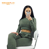 Christmas 2017 Women Winter Elegant Long Jumpsuits Fashion Casual Sexy Army green Full Length Rompers Womens 2 pieces Jumpsuit