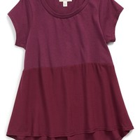 Girl's Tucker + Tate ColorblockHigh/Low Tee,