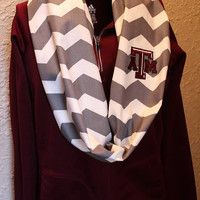 Texas A&M Aggies Monogram Chevron Infinity Scarf