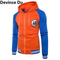hoodies Mens 2018 Autumn Hoody Men Dragon Ball Coat Casual Male Jacket Moleton Masculino Fashion Boy hoodies Sweatshirt M-3XL