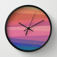 Colorful diagonal Wall Clock by Tony Vazquez