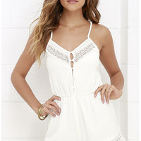Spaghetti Strap Cut Out Rompers