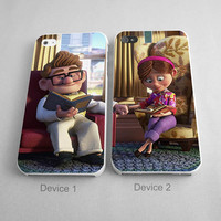 Carl And Ellie Up Disney Couples Phone Case iPhone 4/4S, 5/5S, 5C Series - Hard Plastic, Rubber Case