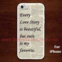 iPhone 5 Case, our love story iphone 5 case, love story, graphic iphone 5 case