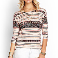 FOREVER 21 Mixed Tribal Print Top