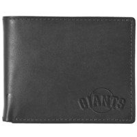 Black Leather Wallet - San Francisco Giants