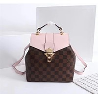 LV Louis Vuitton DAMIER CANVAS CLAPTON BACKPACK BAG