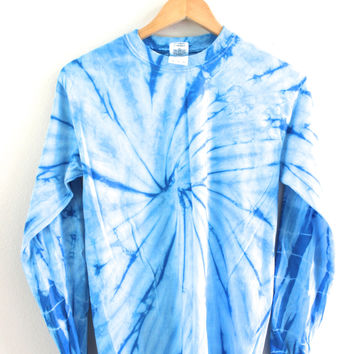 Sky Blue Tie-Dye Long Sleeve Tee