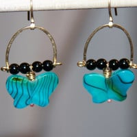 Butterfly jewelry,  Charm jewelry,  Butterfly earrings,  Butterfly pendant,  Blue earrings, black earring, gold earrings