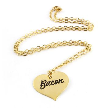 Bacon Heart Pinup Necklace