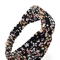 FOREVER 21 Ditsy Floral Headwrap Black/Multi One