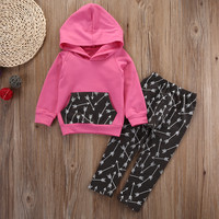 New 2016 fashion Kid baby boy clothes Long Sleeve Hoodie Sweatshirt Top +Long Pants Leggings  2pcs suit baby clothing sets